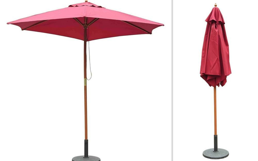Garden Deck Parasol Umbrella Outdoor Pool Patio Red Sunshade Tent Canopy Cover  sc 1 st  Pinterest & Garden Deck Parasol Umbrella Outdoor Pool Patio Red Sunshade Tent ...