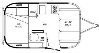 Airstream International Serenity 16 Bambi Travel Trailer Floor Plans Travel Trailers For Sale Travel Trailer