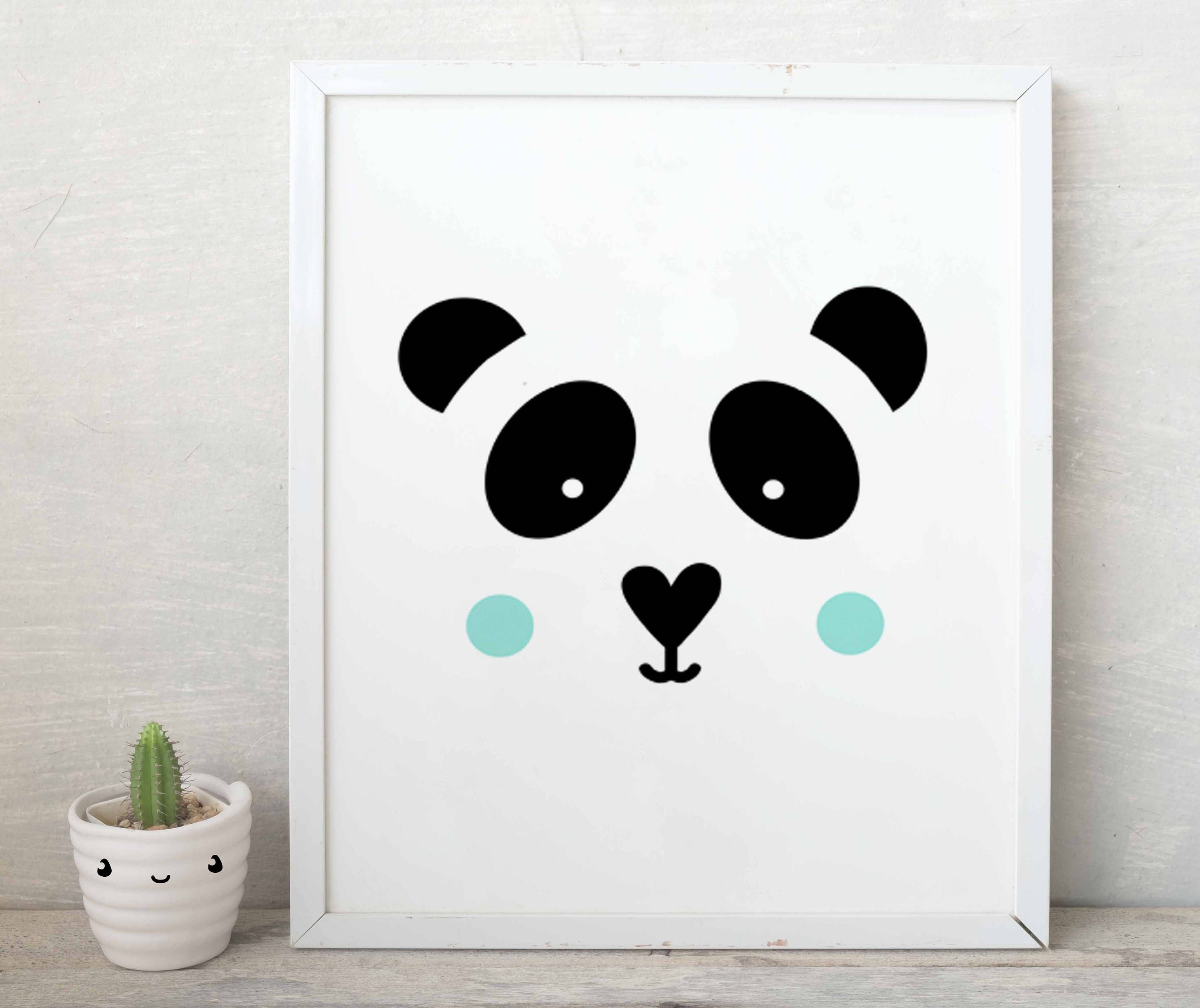 Baby boy panda panda nursery decor cute panda printable art