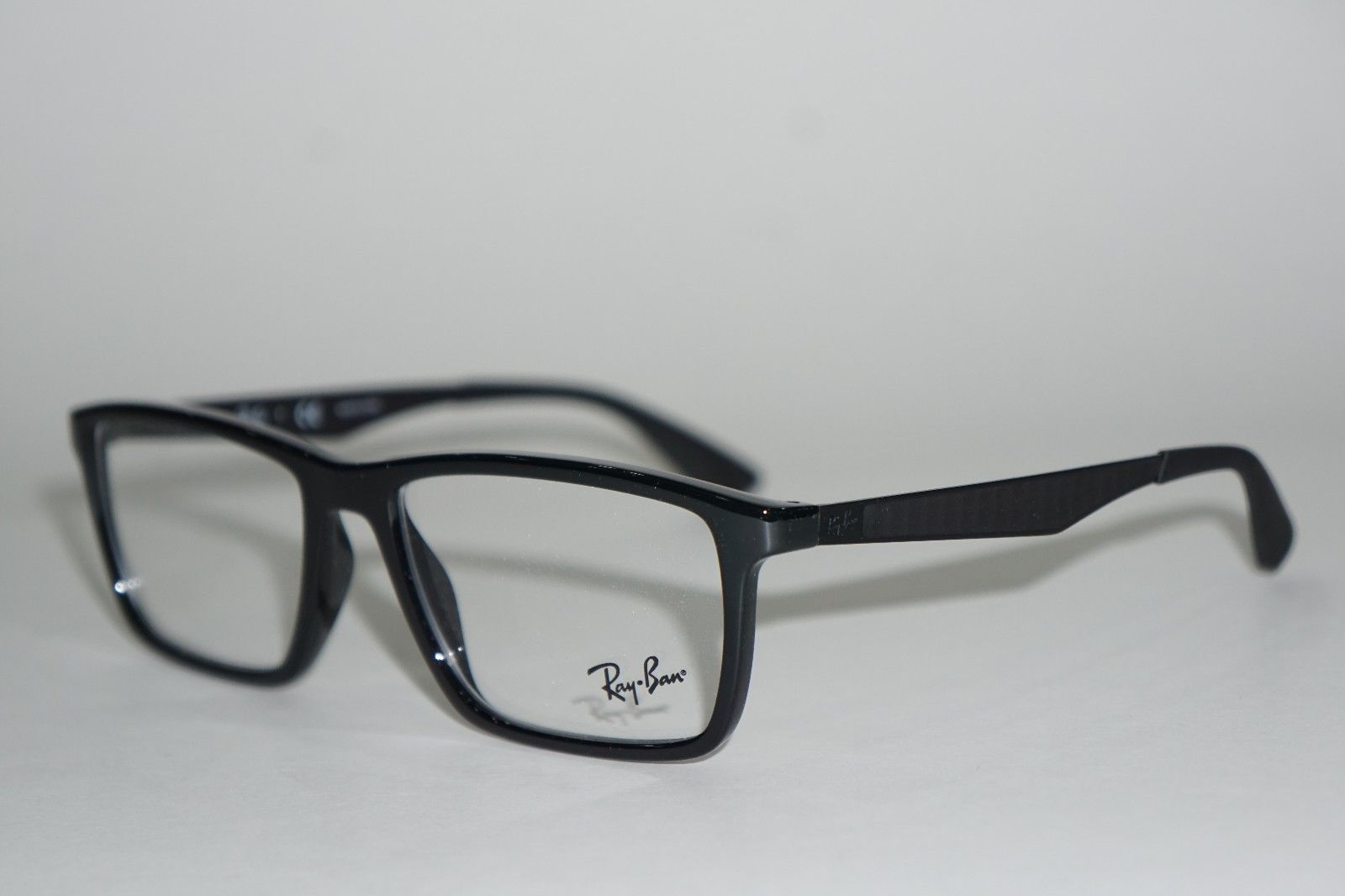 8206ba77c6 NEW RAY-BAN RB 7056 2000 BLACK EYEGLASSES AUTHENTIC RX RB7056 W CASE 55
