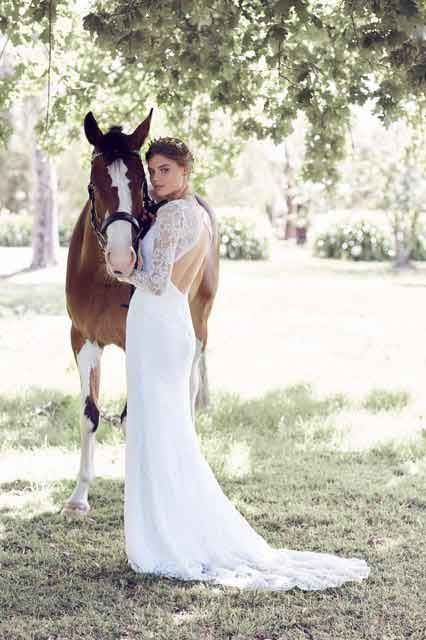 Long sleeve wedding dresses with low back | The Australia Collection ...
