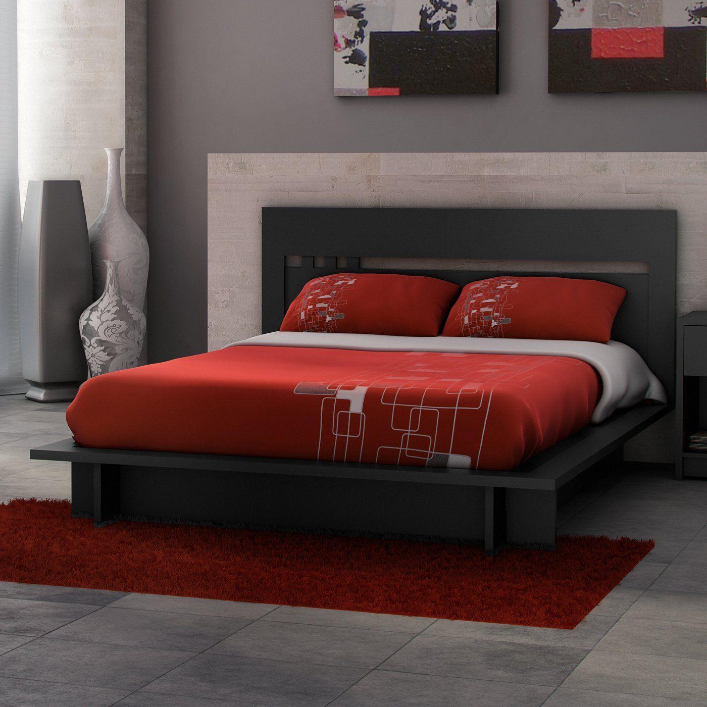 Stellar Home S2002 Milan Platform Bed, Solid Black Home