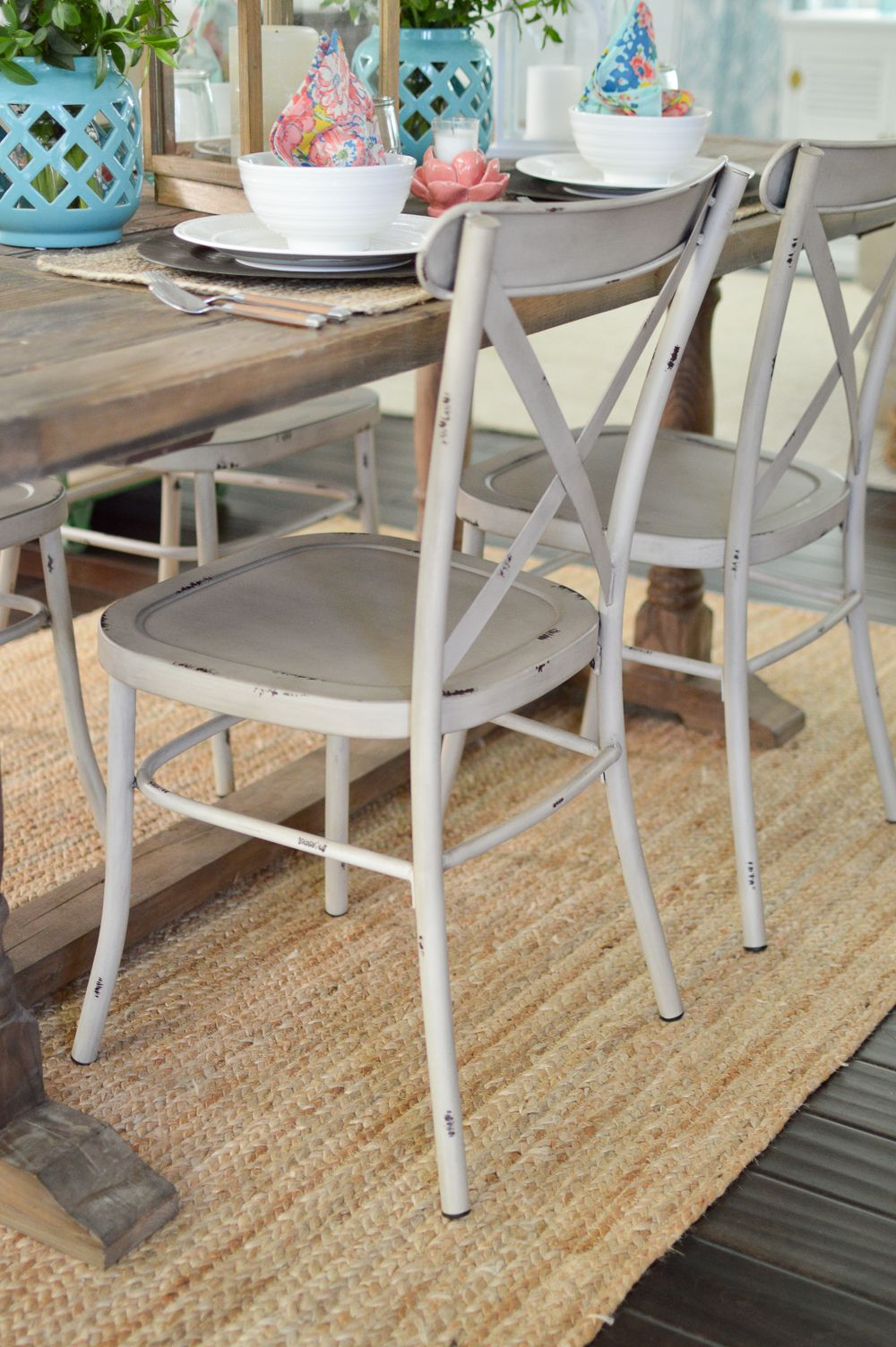 Cottage Farmhouse Table Decorating Ideas Metal Farmhouse Chairs Dining Chairs White Dining Chairs