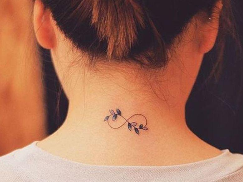 Vu sur pinterest les plus beaux mini tatoo tatouages id e tatouage et mini tatouages - Tatouage nuque femme ...