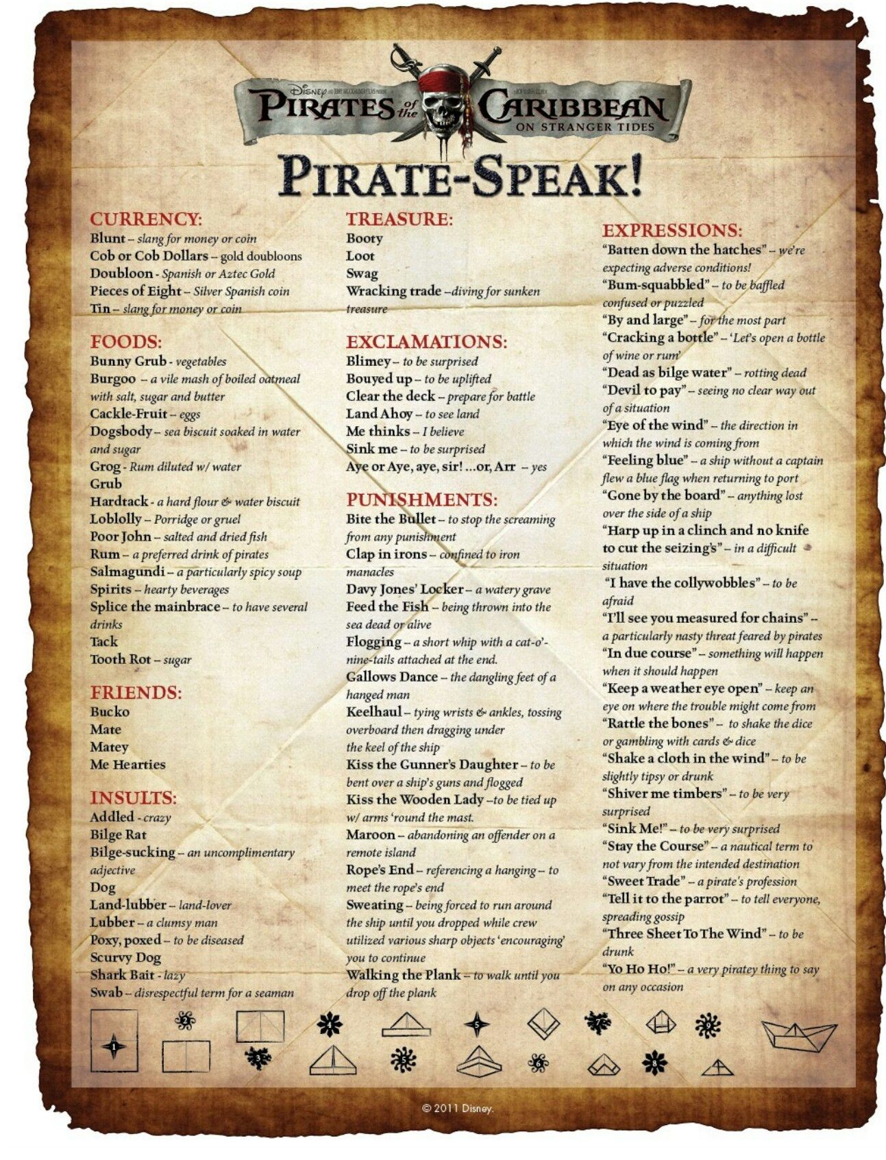 how to speak pirate language