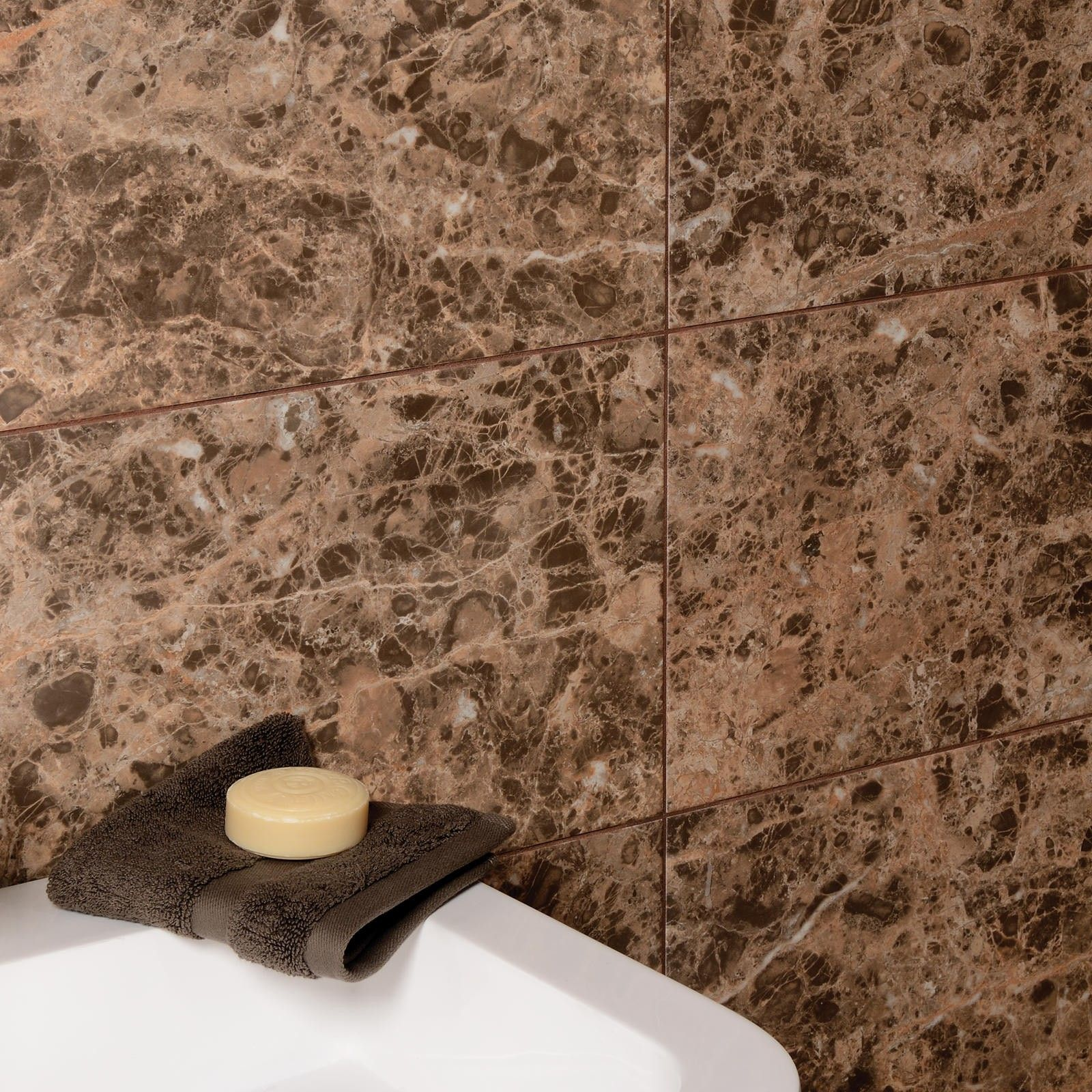 Emperador wall tile spring bathroom inspiration spring style a stone effect ceramic wall tile that offers realistic alternative to natural stone matching floor tiles also available doublecrazyfo Images