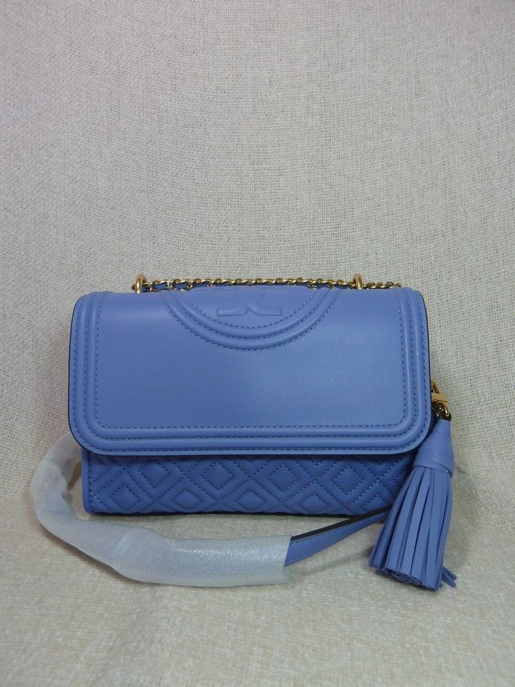 5709dd479 NWT Tory Burch Larkspur Leather Small Fleming Convertible Bag $458 # ToryBurch #Crossbody