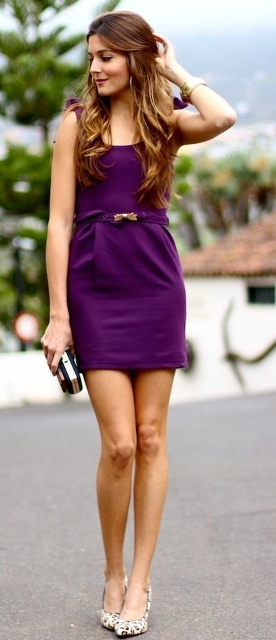 f8ca79a12ac2 Zelihas Blog: Cute Purple Summer Mini Dress   #Women's Fashion ...