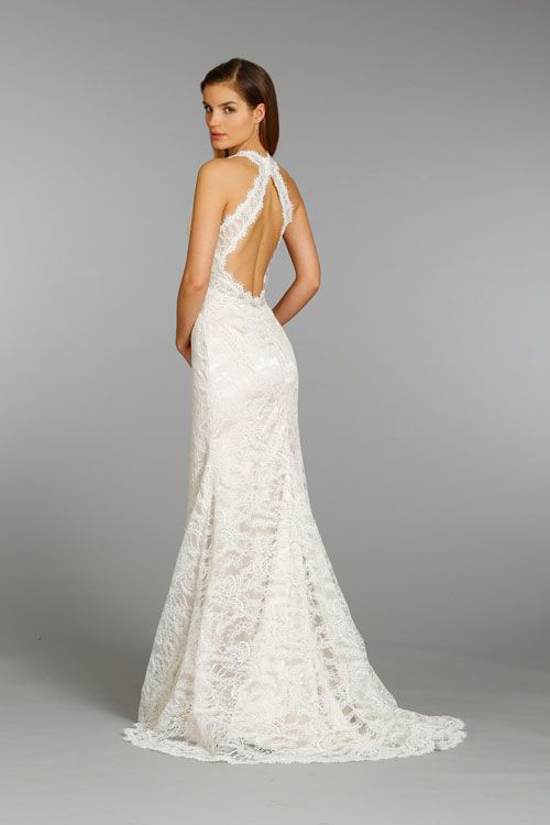 Low Open Back Lace Wedding Dress