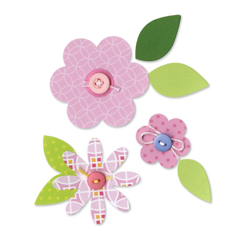 Sizzix - Happy Baby Collection - Bigz Die - Flower Layers ...