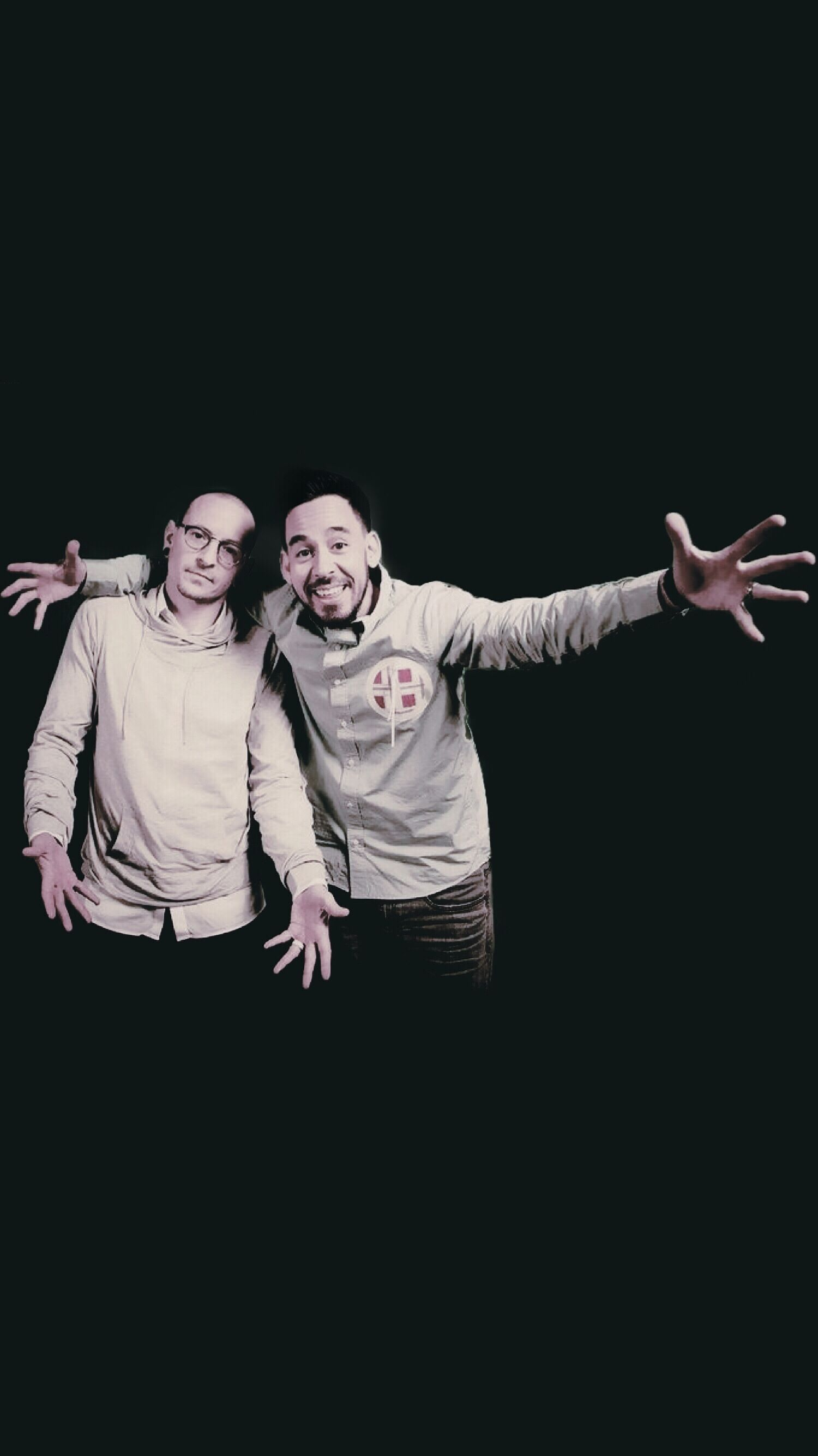 Mike Shinoda Chester Bennington Of Linkin Park Linkin Park