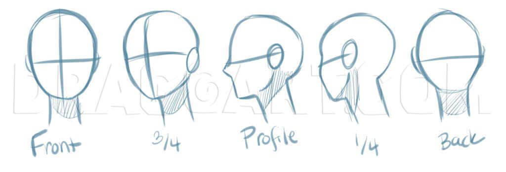 How To Draw Manga Heads By Puzzlepieces Dragoart Com In 2020 Anime Head Side Face Drawing Anime Drawings Tutorials