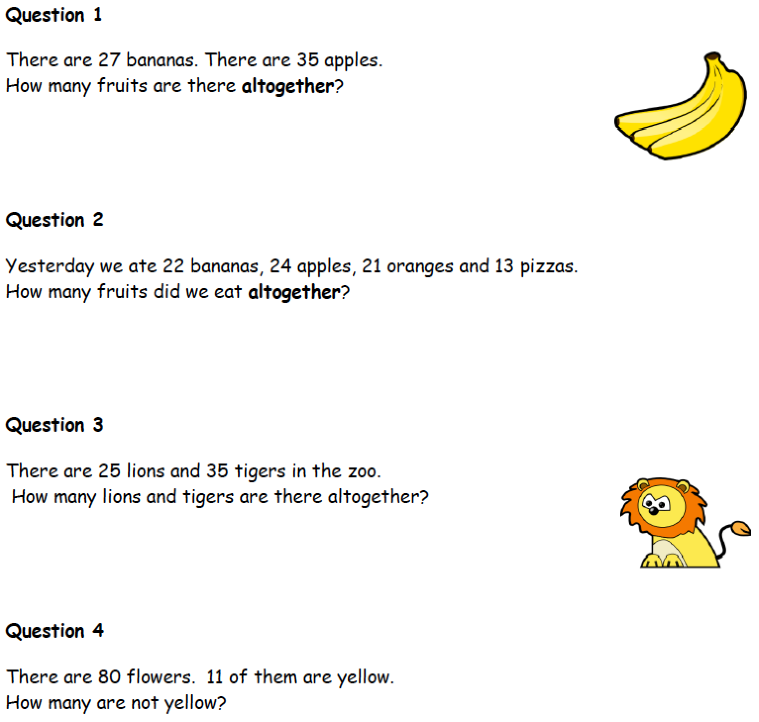 Fun And Challenging Addition And Subtraction Math Problems
