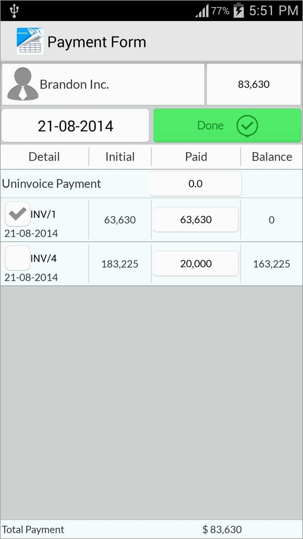 Free Invoice Template For Android App Template Invoice Template Free Invoice Template