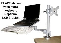 D Dlac2 Laptop Keyboard Combo Arm For Desk Or Wall Mount Laptop Keyboard Keyboard Laptop Arms