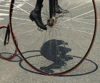 Parading Cyclist