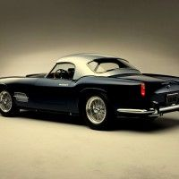 """250 GT Coupe Pininfarina – This was a car designed to stabilize Ferrari finances.  With 335 examples created, it was a simple GT coupe with clean lines, a notchback roofline and a panoramic rear window.  Though it had a standard body design, each model was still bespoke for each customer by Batista """"Pinin"""" Farina himself. @Deidra Brocké Wallace"""