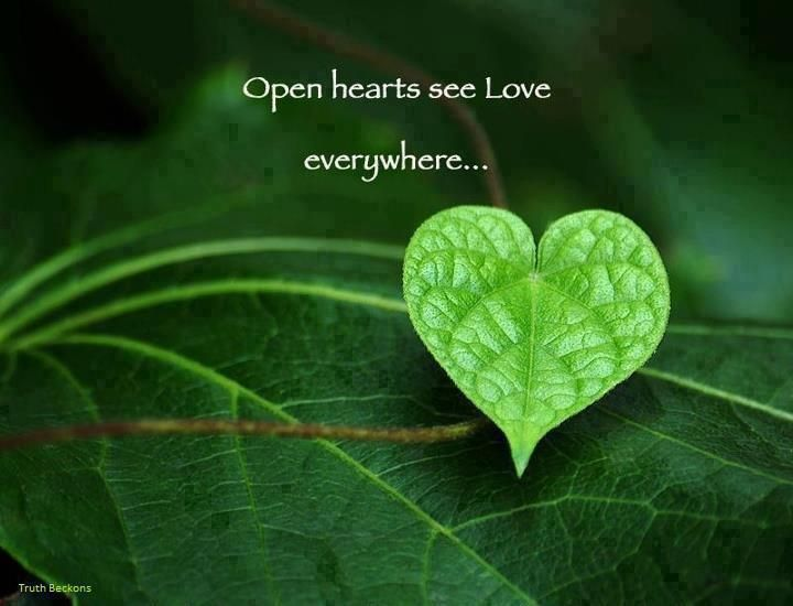This is so true. love is everywhere. We were made by love for love. Only with an open heart can love come in. allow love to enter.