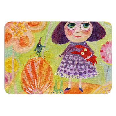 East Urban Home Flowerland by Marianna Tankelevich Bath Mat