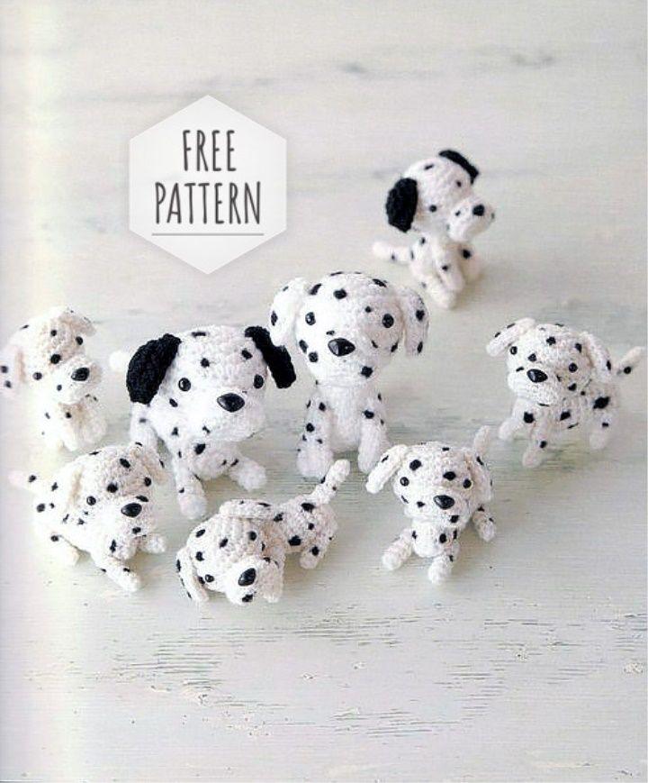 Amigurumi Dalmatians Free Pattern | Manualidades | Pinterest ...