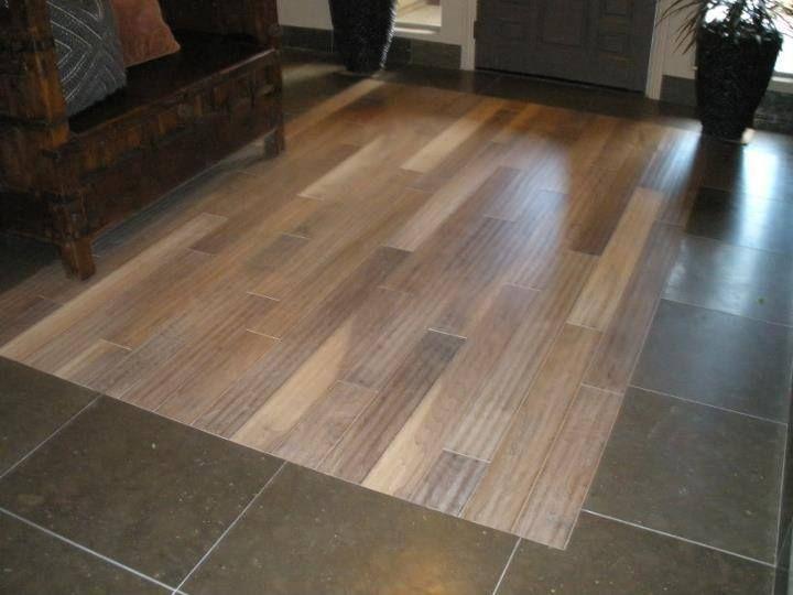 Tile Floor With Wood Inset By Las Vegas Flooring Www Carpetspluscolortilelasvegas Com Tile Floor Flooring Hardwood Floors