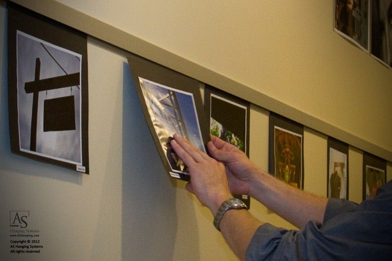 Casso Display Rail As Hanging Systems Wall Art Layout