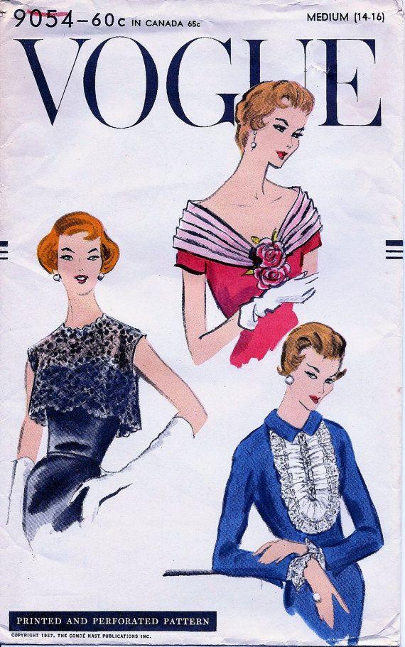 Uncut Vintage Vogue Pattern 9054 Glamorous Bolero Fichu