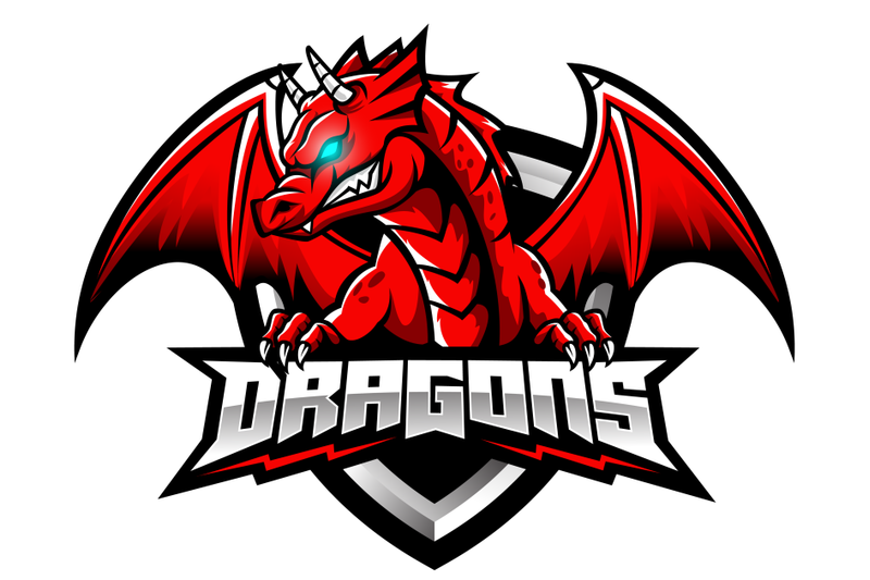 Red Dragon Esports Logo Design By Visink Thehungryjpeg Com Esports Logo Logo Design Game Logo Design