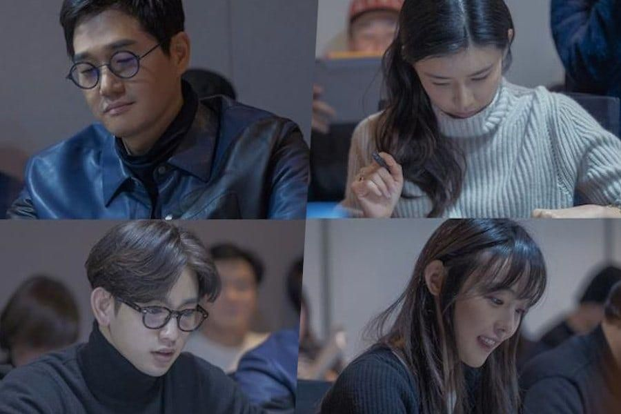 Yoo Ji Tae, Lee Bo Young, GOT7's Jinyoung, Jeon So Nee, And More Get Their First Look At Script For New Drama