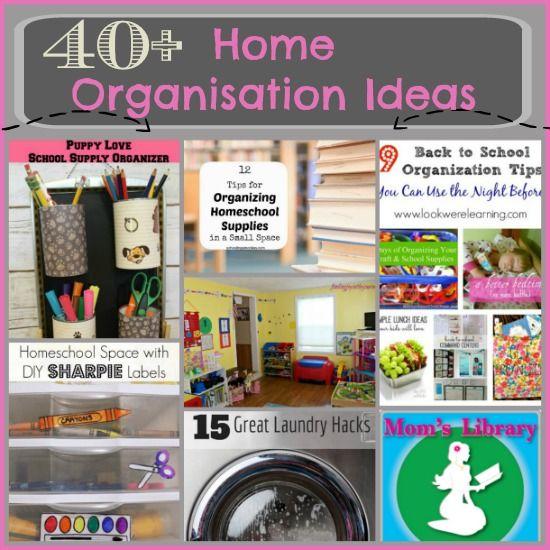 40+ Home Organisation Ideas - Crystal's Tiny Treasures
