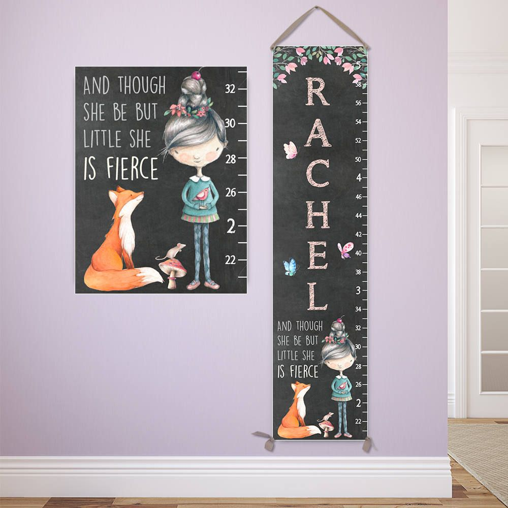 Fox growth chart personalized canvas growth chart fox nursery fox growth chart personalized canvas growth chart fox nursery and though she be nvjuhfo Gallery