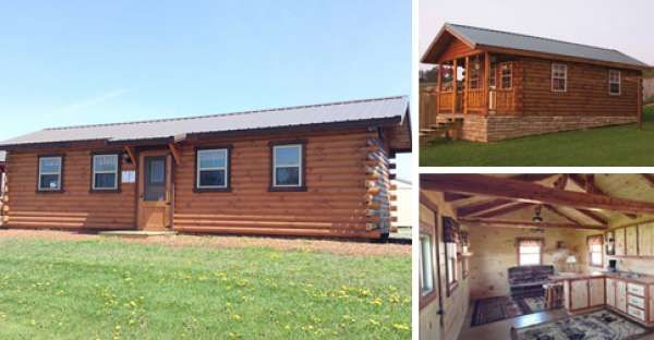 The Hunter Log Cabin For Only $5,885 Is A Beautiful And Cheap Log Cabin  Kits That