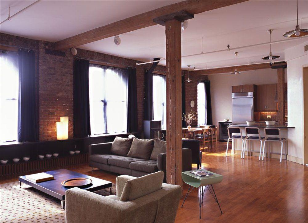 New York City Gut Renovated Loft Apartment Interior Design Nyc Interior Design Apartment Interior Living Room Design Modern
