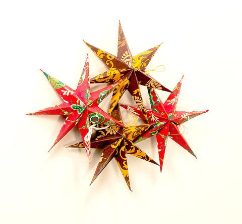 fair trade wholesale paper star ornaments accessories christmas ornaments holiday ornament