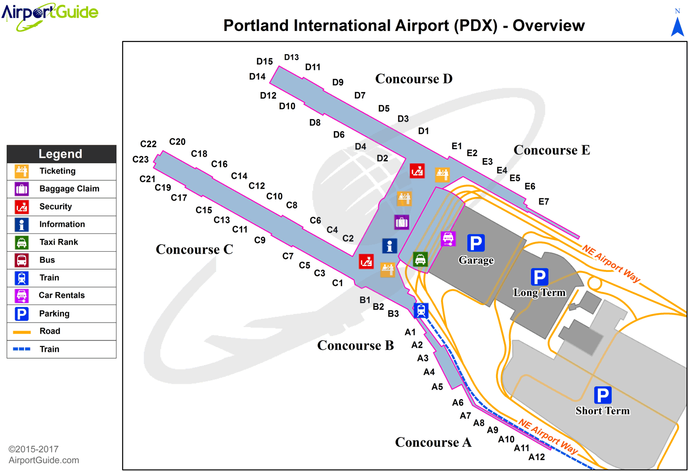 portland oregon airport terminal map Portland Portland International Pdx Airport Terminal Map portland oregon airport terminal map