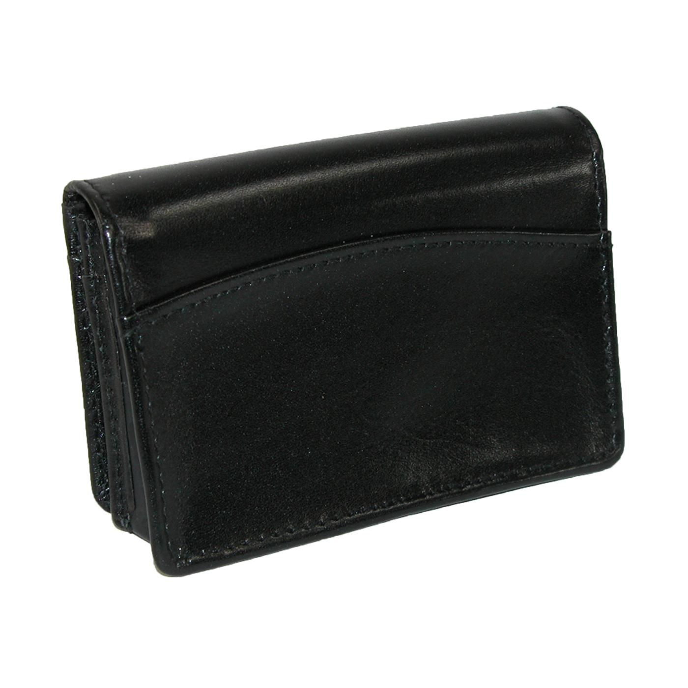 This leather business card holder is the perfect size to carry ...