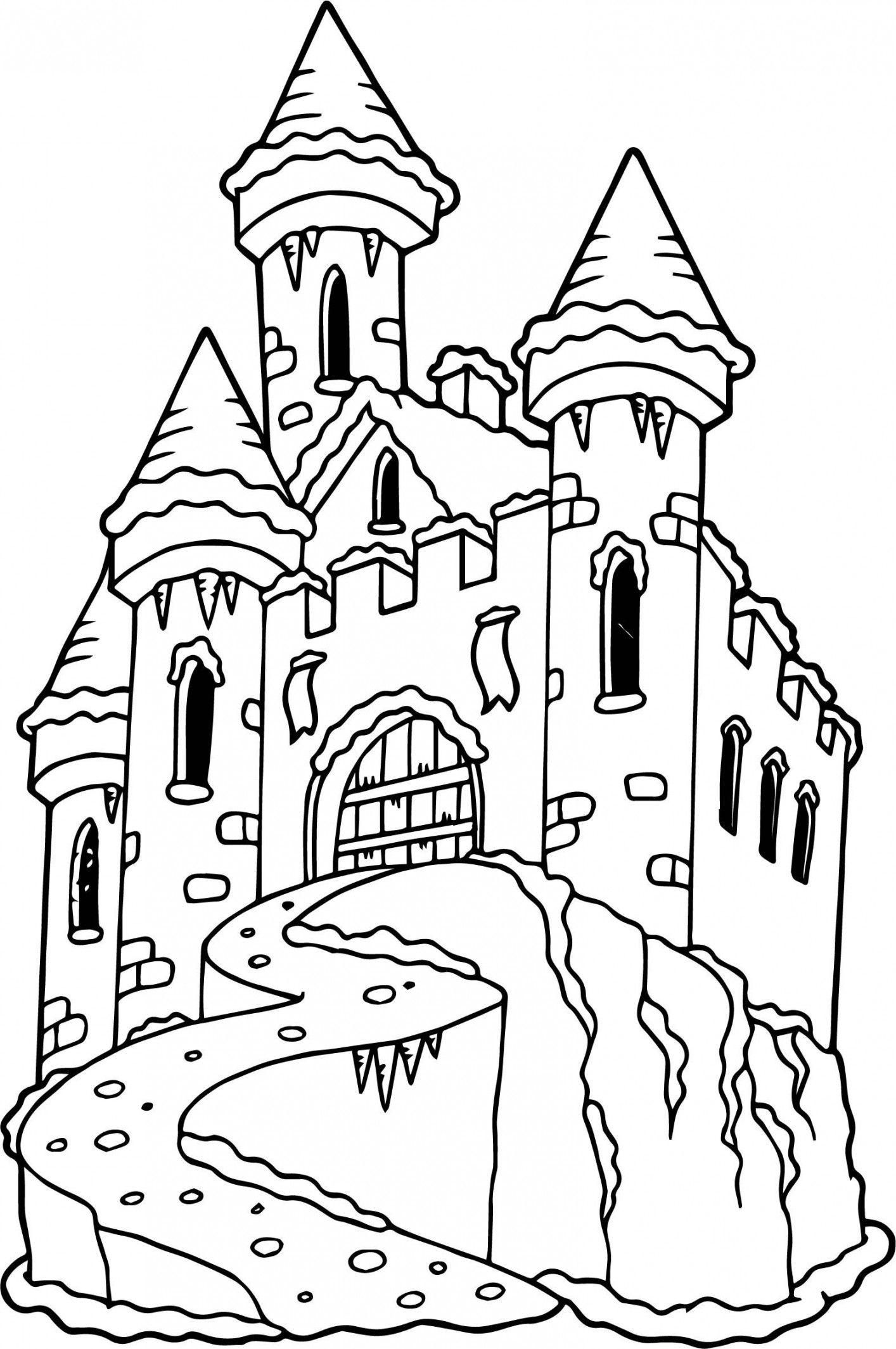 Castle Coloring Pages 20 Disney Castle Coloring Pages Kido