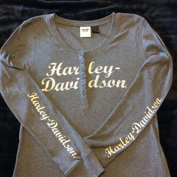 Harley Davidson thermal shirt size large Harley Davidson, large thermal, longsleeve Harley-Davidson Tops Tees - Long Sleeve