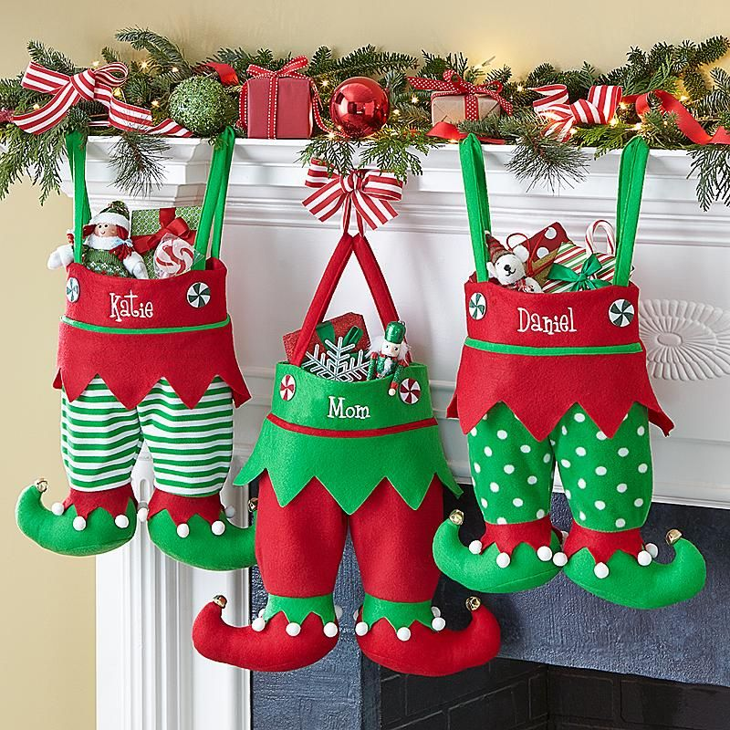 Jingle Bell Elf Pants Stocking Christmas Pinterest Navidad