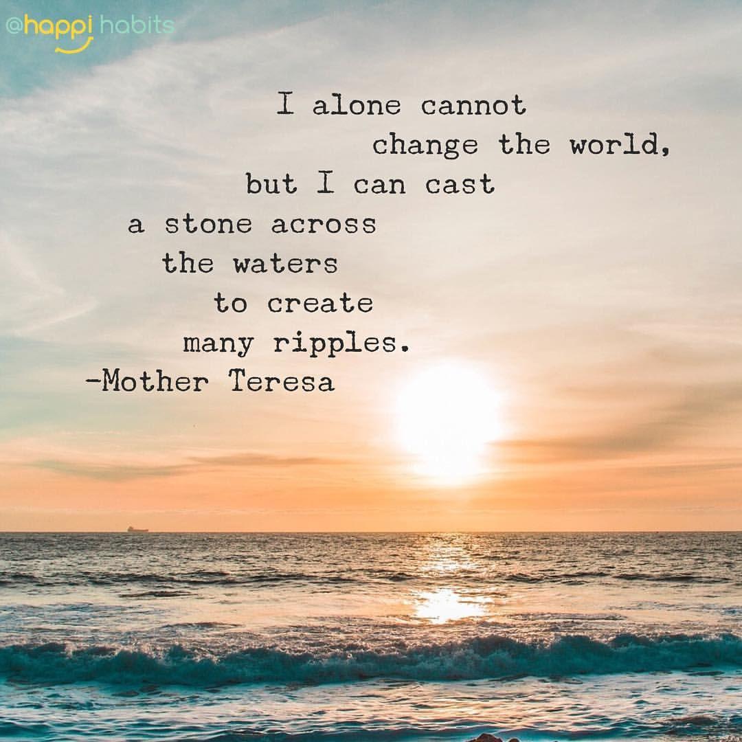 Start a ripple, friends!