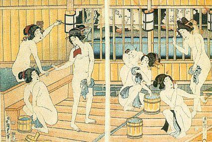 Kitagawa Utamaro, Donne al bagno, 1790