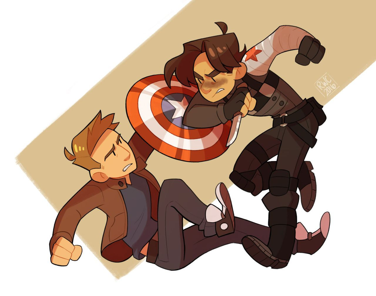 bucky and steve fanart   Tumblr   Cartoons   Marvel, Marvel heroes