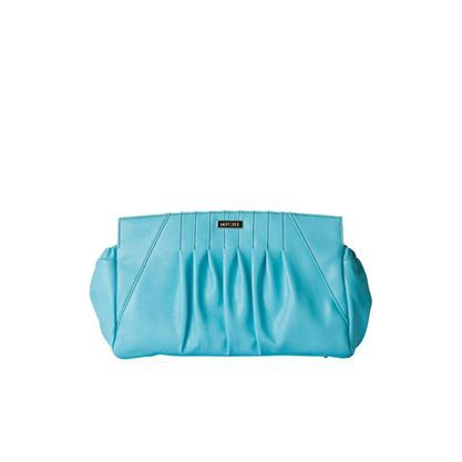 1270 Sally – Classic: Blue skies ahead! The Sally for Classic Miche bags features a neon shade of aqua that's super-trendy and perfect for summer. Perfectly-placed pleating and chic black contrast stitching complete the look. Silver hardware and end pockets. $29.95