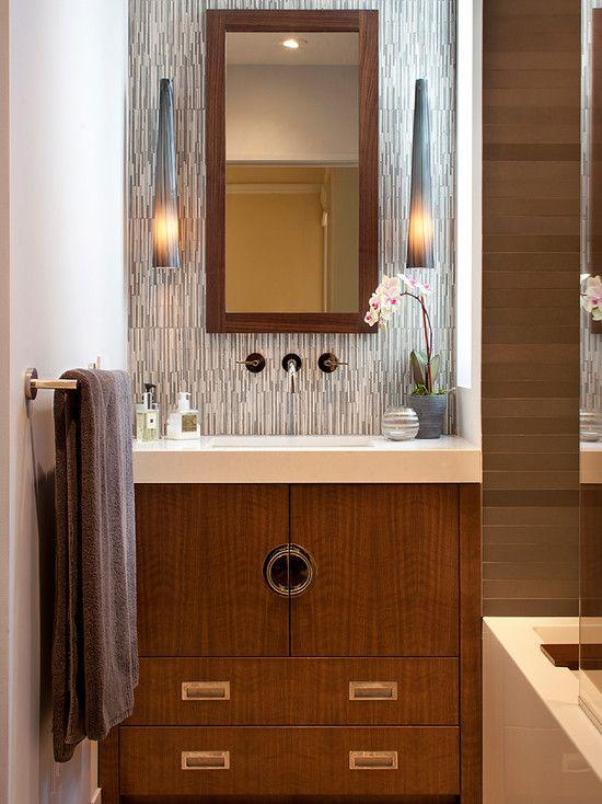 Modern Asian bathroom [ Wainscotingamerica.com ] #Bathrooms #wainscoting #design
