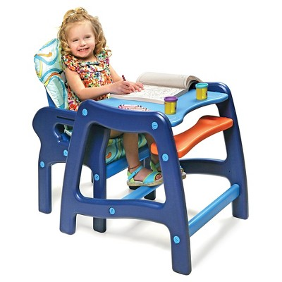 Badger Basket Baby High Chair With Playtable Conversion Blue