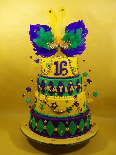 Mardi Gras Sweet 16 Cake | Cake Decorating Ideas | Pinterest | Sweet ...