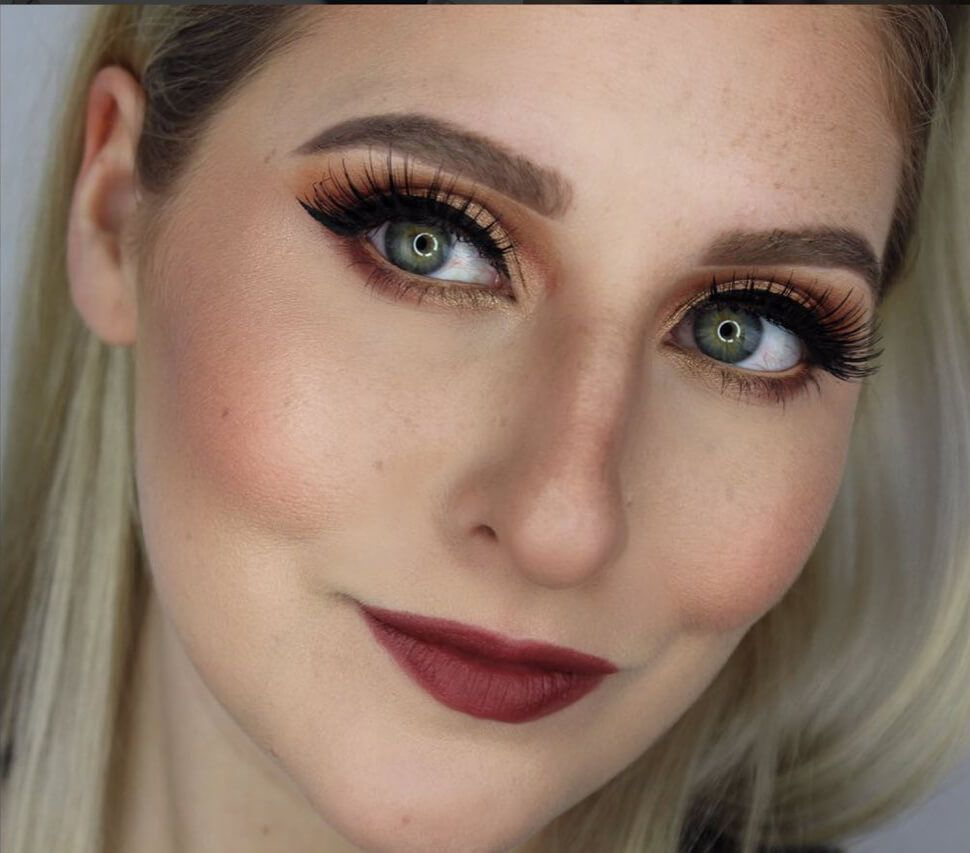 gorgeous makeup examples with natural freckles
