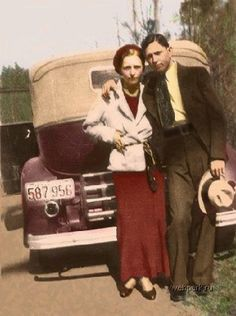 Bonnie Clyde Colored For Your Enjoyment Bonnie Parker