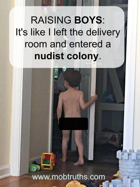 Nudist son 'Nude' gym