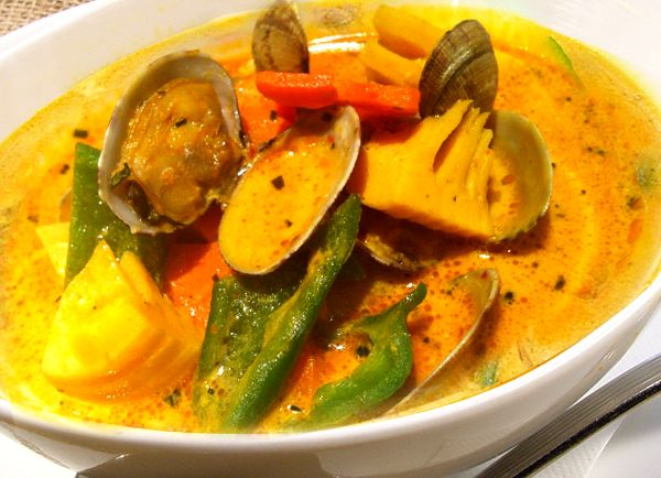 Gulai with Bamboo Shoot and Clams